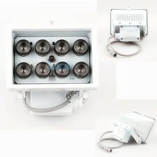 Night Vision IR Infrared Illuminator Light For CCTV Camera DC12V 8 LED 263FT 45°