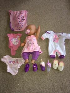 Baby born doll with Accessories