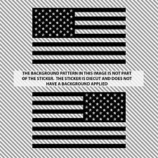 Ghosted Subdued American Flags Tactical Military Flag USA Decal JEEP 3 X 5 Black