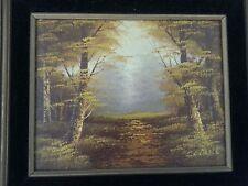 "JOHN WILLIAM CANTRELL Aspen Trees oil painting 8"" x 10"" original frame"