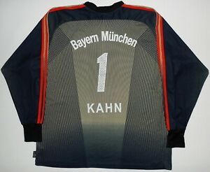 Oliver Kahn Bayern Munich Adidas Football Jersey Shirt Trikot Goalkeeper Germany