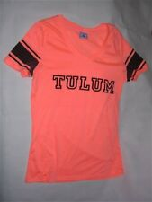 Tulum T-Shirt by Exist Miami Neon/Bright Orange Sheer/Sexy. Lady Sz L. EXCELLENT