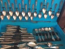 82 Antique silver flatware Oneida Community plate Sheraton pattern 1910 w/box