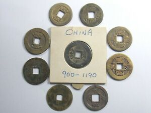 9 Different China  Dynasty Empres  Coins.