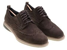 NWB Cole Haan Grand Evolution Dark Roast Suede Leather Wingtip Shoes 11 NEW