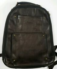 SOLO Reade Brown Leather Backpack Laptop Computer Bag Pockets
