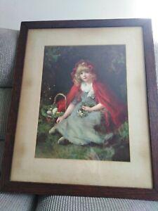 Vintage Red Riding Hood Print