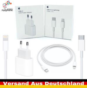 Original Apple iPhone 12 Pro Max Schnell Ladegerät 20W Netzadapter Kabel + 2in1