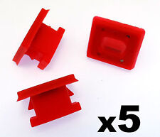 5x BMW Dashboard Trim Strip Grommet. Red Clips for Dash Insert. E46 E83 E65 E66