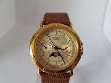Rare Citizen Quartz 6350-G30795 KA  Triple Calendar Moon Phase Watch RUNNING