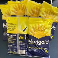 Box of M Size Marigold Extra Life Kitchen Layered Rubber Gloves (6 PAIRS)