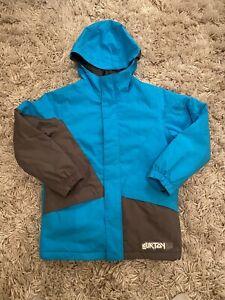 Ladies Woman's Burton Dryride 12 Large Hooded Blue Snowboarding Ski Jacket Coat