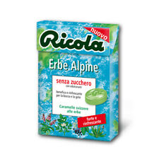 Caramelle RICOLA ERBE ALPINE Senza Zucchero in Astuccio - 20 Astucci