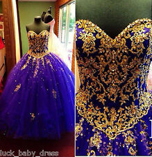Purple Ball Gown Sweet 16 Quinceanera Dresses Pageant Prom Formal Evening Gowns