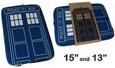 Dr Who Doctor Tardis fermeture éclair ordinateur portable sac / boîte NEUF &