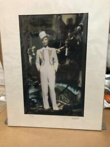 "Matted Photograph Marlene Dietrich   signed Garry Seidel 11""H x 14""W"