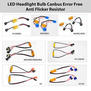 H13 9006 H11 9012 9007 H7 H1 LED Anti Flicker Canbus Decoder Resistor Error Free