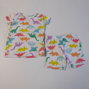 Carters Baby Girls Two-Piece Dinosaur Pajama Set Shorts Short Sleeve 18m Cotton