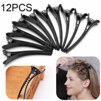 12 Stück Haarschmuck Haarklammer Haarspange Friseurbedarf Abteilklammer Schwarz