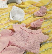 Baby Shower 3 Sweater Sets & Afghans Crochet Pattern Instructions