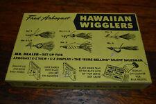 Vintage Fred Arbogast Hawaiian Wigglers Display Case Nice