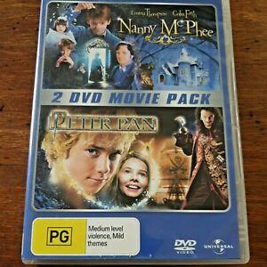 Nanny McPhee/ Peter Pan DVD R4 VERY GOOD – FREE POST