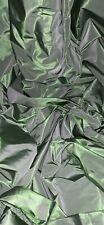 Lime Green Two Tone Acetate Taffeta Fabric 58'' PRICE PER METER