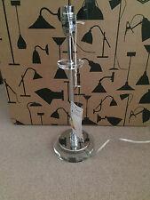 John Lewis Eva Crystal Trim Lamp Base, Silver. RRP £45 Slight Damage