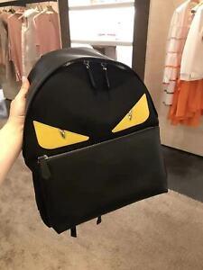 Fendi backpack monster eyes black/yellow/silver !!!New!!!!