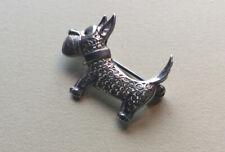 Filigrane Silberbrosche - Hund , Silber 800 u. Herst.Punze
