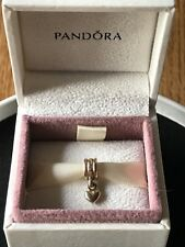 Genuine Pandora 14ct Gold Dangle Heart Charm 585 ALE Retired 750198