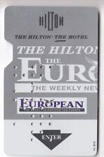 CARTE / CARD  HOTEL CLE  KEY .. EUROPE EUROPA THE HILTON PRESSE YALETRONICS