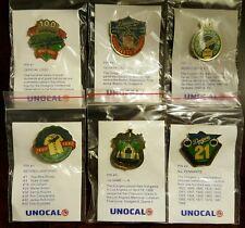VINTAGE 1990 LOS ANGELES DODGERS Unocal Commemorative 6 Pin Set SGA COLLECTIBLE