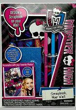 Monster High Scrapbook Your Wall Gift Set 60pc New in box
