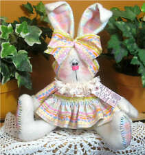 ~Primitive Raggedy Spring Bunny Shelf/Table Sitter ~ PATTERN #317