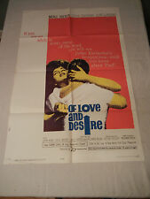 "1963 ""Of Love And Desire"" Original One Sheet Movie Poster"