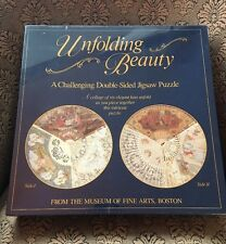 JIGSAW PUZZLE UNFOLDING BEAUTY DOUBLE SIDED NEW SEALED  551 Pieces 20'' Round