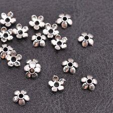 50Pcs Tibetan Silver Metal Flower Loose Spacer Beads Caps 6MM 8MM 10MM 12MM 14MM