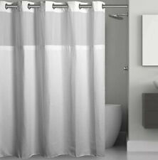 NEW! Hookless® Waffle 71-Inch x 74-Inch Fabric Shower Curtain in White No Hassle