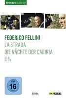 FEDERICO FELLINI/ARTHAUS CLOSE-UP - MASTROIANNI,MARCELLO/+ 3 DVD NEU