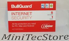 BullGuard Internet Security & Antivirus 5 Device / 1 Year Key Card
