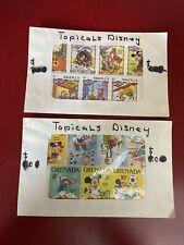 Vintage Grenada Sports & Anguilla Christmas Disney Tropicana Stamps Set