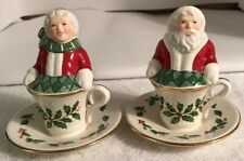Lenox Holiday Santa and Mrs. Claus: Salt & Pepper Shakers