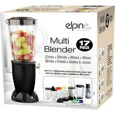 17pcs Multi Blender Food Processor Juicer Smoothie Maker Liquidiser Blends Black
