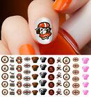 Cleveland Browns Football Nail Art Decals - Salon Quality