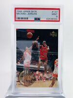 Michael Jordan PSA 9 Mint Graded 10 Card Lot Chicago Bulls-Air Jordan