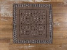 BRUNELLO CUCINELLI brown reversible 100% wool pocket square authentic - NWOT
