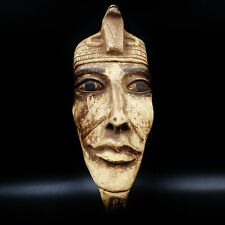 Stunning X-LARGE Antique Egyptian Pharaoh Mask Bust Figure