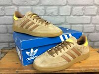 ADIDAS OG MENS UK 9 EU 43 1/3 HANDBALL SPEZIAL BEIGE YELLOW GUM TRAINERS  EP