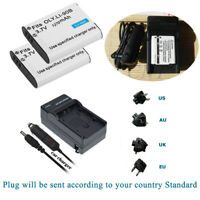 2 LI-92B Battery +Charger for Olympus Stylus SH-60 SP-100EE TG-Tracker TG-5 TG-6
